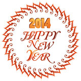 Happy new year holiday design Stock Photo