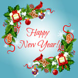 Happy New Year holiday frames Stock Photography
