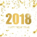 Happy new year 2018. Holiday greeting card card. Template for your design. Vector. Illustration Royalty Free Stock Image