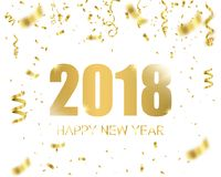 Happy new year 2018. Holiday greeting card card. Template for your design. Vector. Illustration Stock Photo