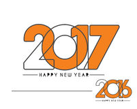 Happy new year 2017 Holiday Text Vector. Happy new year 2017 & 2016 Holiday Text Vector Illustration background Royalty Free Stock Photo