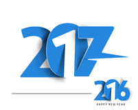 Happy new year 2017 Holiday Text Vector. Happy new year 2017 & 2016 Holiday Text Vector Illustration background Stock Images