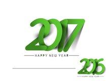 Happy new year 2017 Holiday Text Vector. Happy new year 2017 & 2016 Holiday Text Vector Illustration background Royalty Free Stock Photos