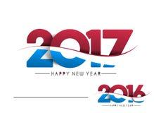 Happy new year 2017 Holiday Text Vector. Happy new year 2017 & 2016 Holiday Text Vector Illustration background Royalty Free Illustration