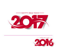 Happy new year 2017 Holiday Text Vector. Happy new year 2017 & 2016 Holiday Text Vector Illustration background vector illustration