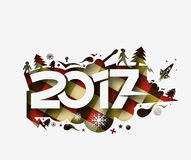 Happy new year 2017 Holiday Vector Royalty Free Stock Images