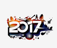Happy new year 2017 Holiday Vector Royalty Free Stock Photo