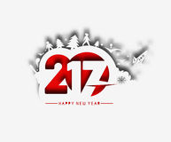 Happy new year 2017 Holiday Vector Stock Photography