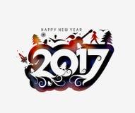 Happy new year 2017 Holiday Vector Stock Image