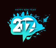 Happy new year 2017 Holiday Vector Stock Images