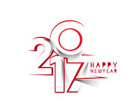 Happy new year 2017 Holiday Vector Royalty Free Stock Photography