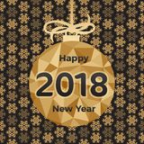 Happy 2018 New Year. Holiday Illustration Royalty Free Stock Image