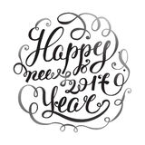 Happy New 2017 Year. Holiday Vector Illustration With Lettering Composition . Calligraphy design. Happy New 2016 Year. Holiday Vector Illustration With Lettering Stock Photography