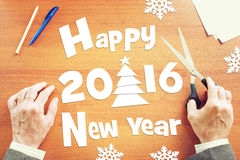 Happy New Year Holidays 2016 Stock Images