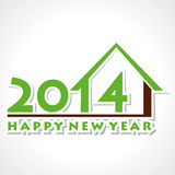 Happy new year 2014. Home concept background Stock Photography