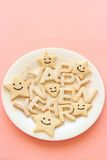 Happy new year homemade cookies Stock Photo