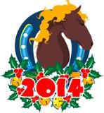 Happy new year horse Royalty Free Stock Photos