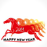 Happy new year 2014. Horse year concept background Royalty Free Stock Photography