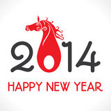 Happy new year. 2014 horse illustration Stock Images
