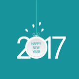 Happy new year 2017 icon in blue illustration. Happy new year 2017 icon in blue color illustration Stock Illustration