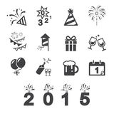 Happy new year icon Stock Photos
