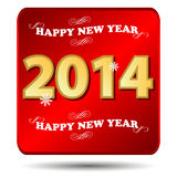 Happy new year 2014. Icon on a white background Royalty Free Stock Image