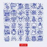 Happy New Year icons set royalty free illustration
