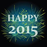 2015 Happy New Year. Illistrations of 2015 Happy New Year royalty free illustration