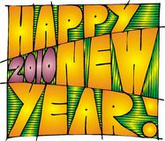 Happy new year. Illustrated happy new year 2010 as nice background Royalty Free Stock Images