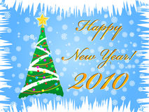 Happy new year illustration. Vector illustration with Happy new year Royalty Free Stock Photography