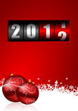 Happy new year illustration. With counter and christmas balls Stock Photo