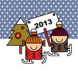 Happy new year illustration Royalty Free Stock Photo