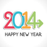 Happy new year. 2014 illustration Stock Photos