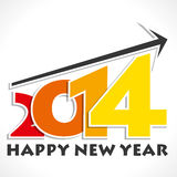 Happy new year. 2014 illustration Royalty Free Stock Image