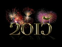 Happy New Year 2015. Illustration with a Happy New Year 2015 royalty free illustration
