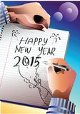 2015 Happy New Year. Illustration vector illustration