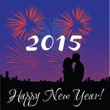 2015 Happy New Year. Illustration Royalty Free Stock Photo