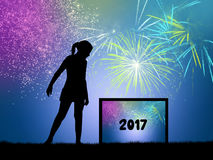 Happy New Year. Illustration of Happy New Year Stock Photography