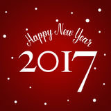 Happy new year 2017,  illustration Stock Photography