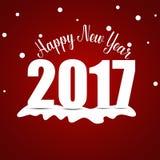Happy new year 2017,  illustration Royalty Free Stock Photo