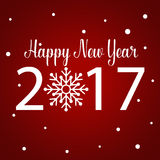 Happy new year 2017,  illustration Royalty Free Stock Photos