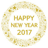 Happy New Year 2017. Illustration vector illustration