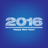 Happy new year 2016. Illustration with blue background Stock Photos