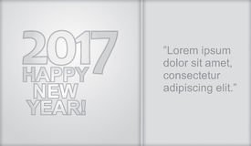 Happy New Year - illustration with business graph Royalty Free Stock Images