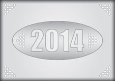 2014 - Happy New Year. Illustration for business presentation Royalty Free Stock Photography