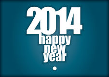 2014 - Happy New Year. Illustration for business presentation Stock Photos