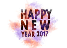 Happy new year 2017 illustration card greeting Royalty Free Stock Photos
