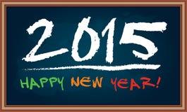 Happy New Year 2015. Illustration  on chalkboard Royalty Free Stock Photo