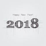 Happy New Year 2018. Illustration Christmas background Royalty Free Stock Photography