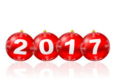 Happy new year 2017 illustration Stock Photography